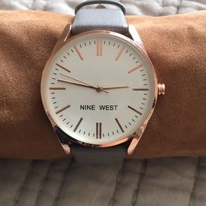 Grey and gold Nine West watch